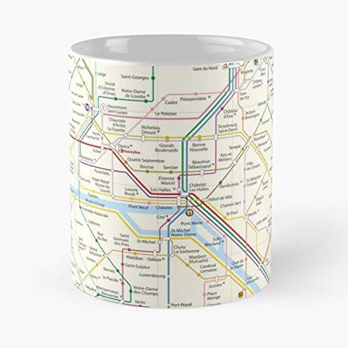 Paris City Subway Street Gift Coffee/tea Ceramic Mug Father Day ()