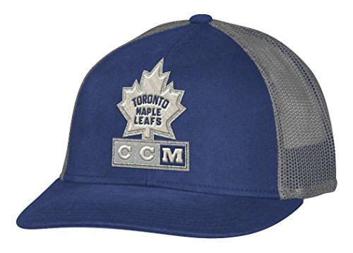 Toronto Maple Leafs Snap - adidas Toronto Maple Leafs CCM NHL Trucking Structured Adjustable Mesh Back Hat