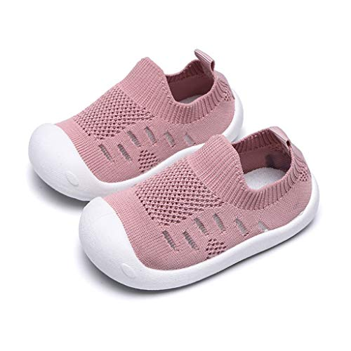 Athletic Mesh Walker - Haalife◕‿¿Kid's Casual Knit Shoes Athletic Walking Shoes Lightweight Mesh-Comfortable Slip on Sneakers Pink