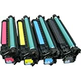 Toner Eagle Compatible 4-Color Toner Cartridges for use in Hewlett Packard (HP) Color Laserjet Enterprise CP4525 CP4525dn CP4525n CP4525xh. Replaces Part # CE260X, CE261A, CE262A and CE263A.