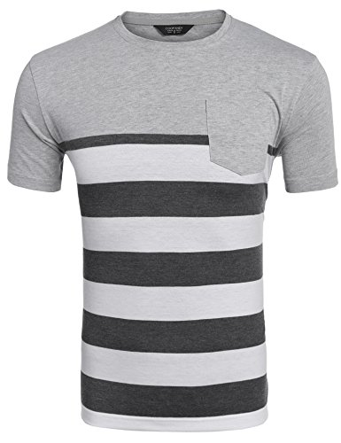 Coofandy Casual O Neck Striped T Shirt product image