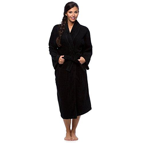 100-turkish-cotton-frette-striped-velour-shawlcollar-womens-bathrobe-x-large-black