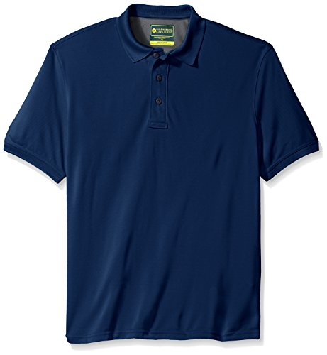 G.H. Bass & Co. Men's Short Sleeve Explorer Fish Tale Solid Mesh Polo, Medieval Blue, X-Large (Solid Mesh Shirt)