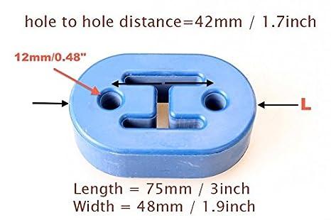 for Honda Elysion Stream Integra CL7 CL9 DC5 3 Holes 9mm Yellow Acura RSX TSX 0.36 Hole Size Autobahn88 Universal Exhaust Muffler Hanger Bushing