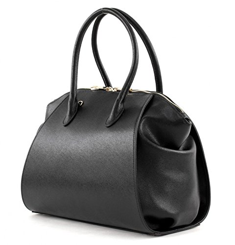Coccinelle Lou handbag leither Saffiano black