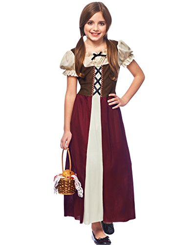 Costume Culture Peasant Girl Child Costume, Burgundy, (Village Girl Costume)