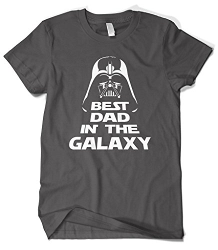 Cybertela Men's Father's Day Gift Best Dad In The Galaxy T-Shirt (Charcoal, ()