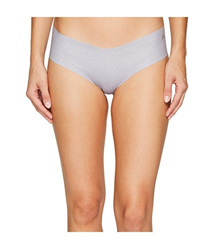 adidas Womens Seamless Underwear Single Hipster, Grey Static Heather/Matte Silver, Large