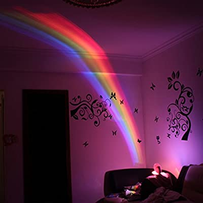 YPOSION Rainbow projector lamp star-led small night light creative romantic holiday gifts of boys and girls