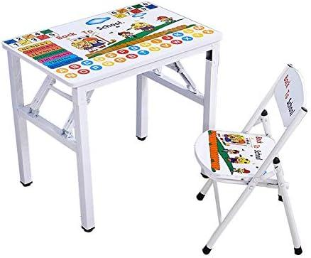 ZH Escritorio y Silla Plegables para niños, Mesa de Cartas de ...