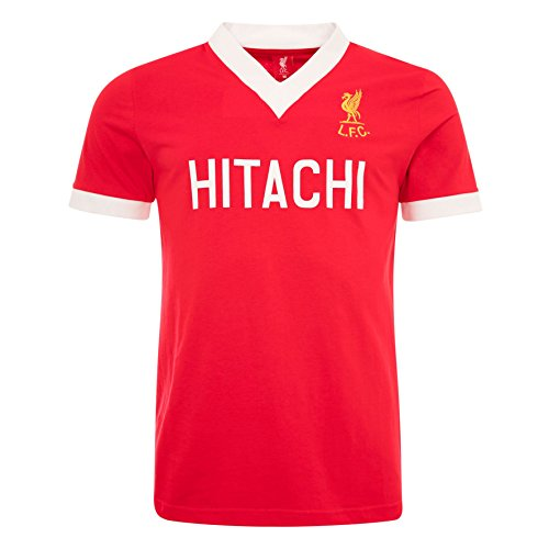 Liverpool FC AW 2016 Cotton Red Mens Hitachi Home Short Sleeve Shirt Jersey 1978 LFC Official Store