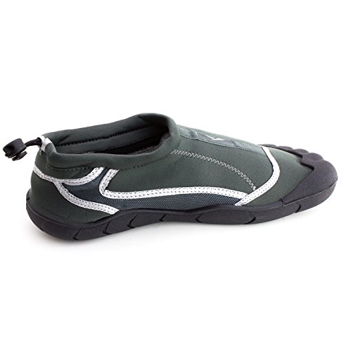 Ics Scii Mens Outdoor Beach Pool Creek Aqua Toe Water Shoes (adulti) Grigio