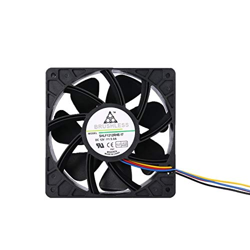 CloverLucky 7500RPM DC12V 5.0A Miner Cooling Fan For Antminer Bitmain S7 S9 4-Pin Connector Brushless Replacement Cooler Low Noise