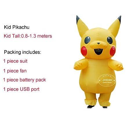 Disfraz de Pikachu Inflable Lightsal, para Cosplay, Carnaval ...