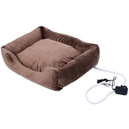 Square Electric Pet Bed Heated Pet Bed Cat Dog Puppy Heating Nesting Pads Mats Pittayadomeshop