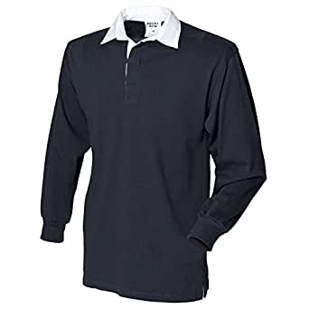 Front Row Long Sleeve Original Rugby Shirt - Black* - M