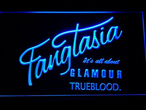 Fangtasia True Blood LED Neon Light Sign Man Cave G163-B ()