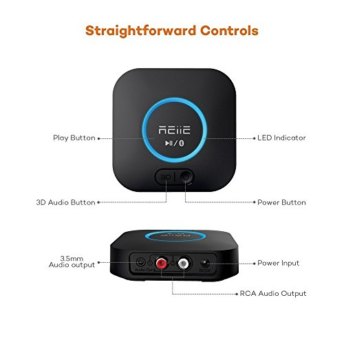Bluetooth APT-X Hi-Fi Receiver and Audio Adapter, with 3D Surround and DSP, Low Latency for Home Music Stereo Streaming by REIIE by REIIE (Image #4)