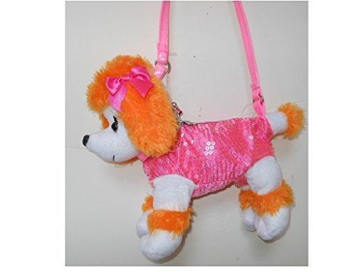 - Poochie & Co. Girls Sequin Poodle Purse(Orange/Pink)