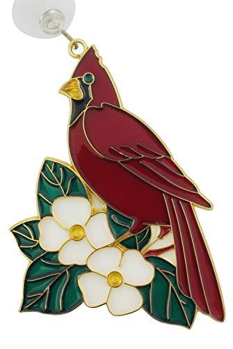 - Westman Works Cardinal Suncatcher Bird and Dogwood Flower Window Ornament Decoration