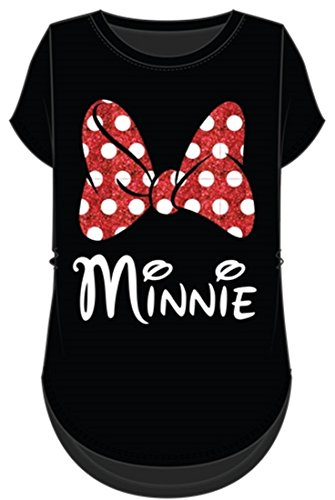 Disney Minnie Mouse Red Sparkle Polka Dot Bow T-Shirt for Moms (Women's, ()
