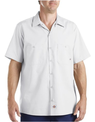 Dickies Men's Short Sleeve Industrial Work Shirt,White, 2X-Large (Best White Work Shirts)