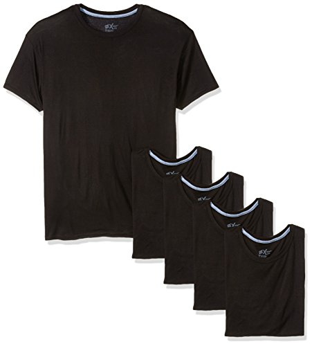 (Hanes Men's 5-Pack X-Temp Comfort Cool Dyed Crewneck Undershirt, Black, X-Large )