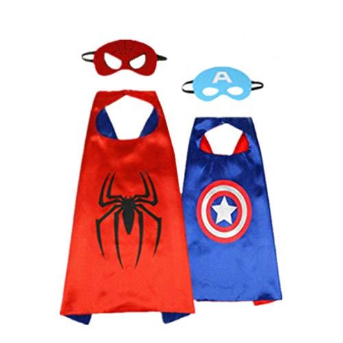 AnRio Superhero Capes for Kids Dress up Costume,
