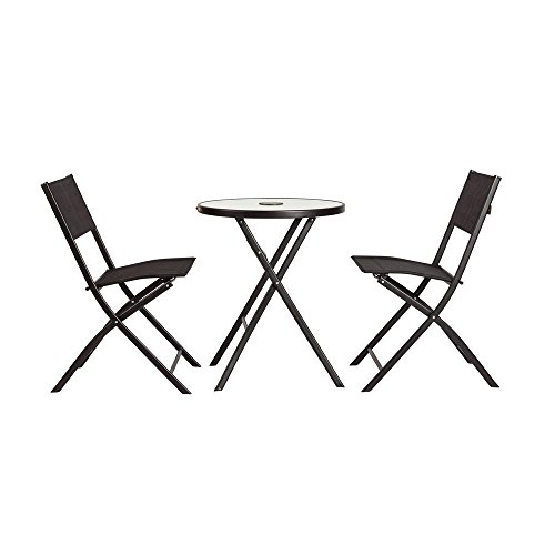 Patio Sense 62424 So Be Illuminated Folding Bistro Set (Balcony Furniture Miami)