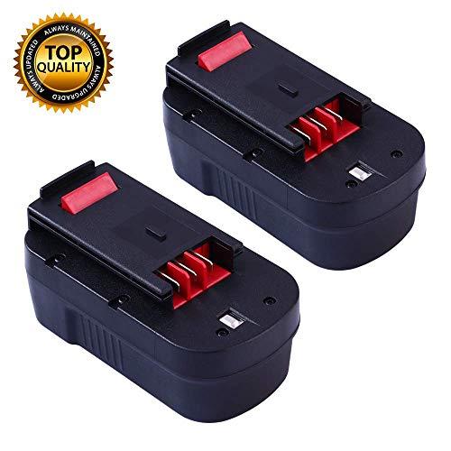 HPB18 18V Battery Replacement for Black and Decker 18 Volt Battery HPB18-OPE 244760-00 FS180BX A1718 A18 A18E FS18BX NST2118 FSB18 FS18FL FEB180S A18NH FS18FL Firestorm Cordless Power Tools - 2 Packs