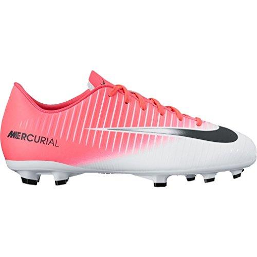 Nike Unisex-Kinder Mercurial Victory VI FG Fußballschuhe, Bunt NOBLE RED/PORT-HOT PUNCH