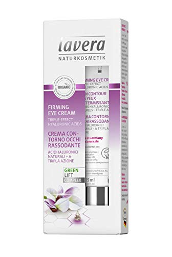 lavera Firming Eye Cream: Moisturizing Eye Treatment to reduce Appearance of Wrinkles, Fine Lines, Puffiness, Dark Circle and Bags in delicate eye area for Day & Night - 0.5 Oz (The Best Wrinkle Cream In The World)