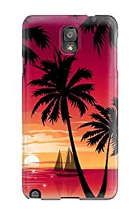 Protective Tpu Case With Fashion Design For Galaxy Note 3 Magneta Sunset