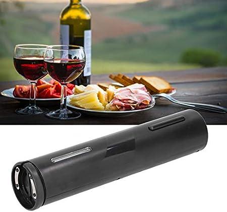 Abridor de vino eléctrico, USB recargable ABS sacacorchos automático One Touch sacacorchos automático abridor de botellas de vino con luz LED para fiestas, citas y amantes del vino para Navidad