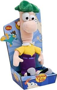 Joy Toy 1000047  Phineas y Ferb - Peluche de Phineas y Ferb: Ferb (25 cm) [Importado de Alemania]