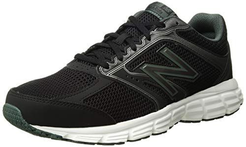 (New Balance Men's 460v2 Cushioning Running Shoe Black/Faded Rosin 10 4E US)