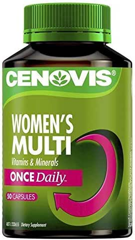 Cenovis Once Daily Womens Multivitamins & Minerals 50 Capsules