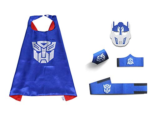 Kids Transformers Cape and MASK Set Halloween Costume Party Favor for Children]()