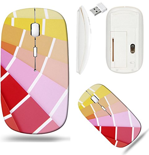 (Liili Wireless Mouse White Base Travel 2.4G Wireless Mice with USB Receiver, Click with 1000 DPI for notebook, pc, laptop, computer, mac book color chart guide sampler Image ID 22933764)