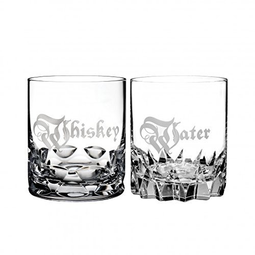 (Waterford Short Stories Whiskey & Water Double Old Fashioned Glasses, pair)