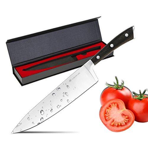 U-Verne Chef Knife, Multipurpose Kitchen 8 inch Chef's Knife High Carbon Stainless Steel Sharp Knives Ergonomic Equipment
