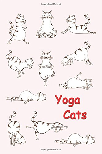 Journal: Yoga Cats (Red) 6x9 - DOT JOURNAL - Journal with dotted pages (Cats and Kittens Dot Journal Series)