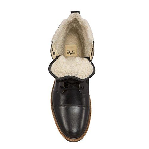 19v69 Versace 1969 Winterlaarzen Handgemaakte - Lederen Laarzen Met Real-merino Wol Voering Zwart