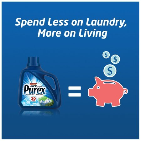 PACK OF 6 - Purex Liquid Laundry Detergent, Free & Clear, 150 Fluid Ounces, 100 Loads by Purex (Image #6)
