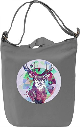 Hipster Deer Borsa Giornaliera Canvas Canvas Day Bag| 100% Premium Cotton Canvas| DTG Printing|
