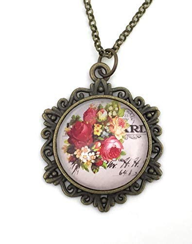Vintage Inspired Floral Bouquet Necklace for Women