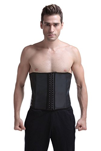 Men's Waist Trainer Tummy Control Band Back Support Weight Training Fitness Shapewear (Black, S)