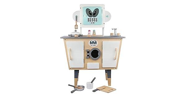 Conjuntos de juguetes de cocina Modelado robot de cocina Set de juego juego de rol niños de imaginación de madera for niños Cocina Juguetes Set imaginación pone Juego de regalo de juguetes