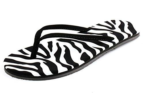 Aisun Womens Classic Comfy Antiskid Flat Beach Flip Flops Black 3 F89WWDj