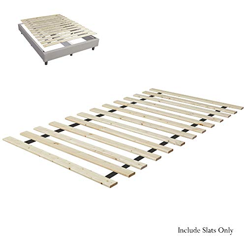 (Continental Matress 1-Inch Standard Mattress Support Wooden Bunkie Board/Slats, Twin, Beige)